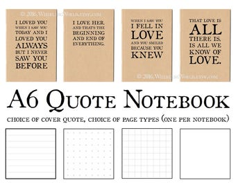 Love Notebook - Memory Book, A6 Journal, Gift and/or Card   Long Love Letter, Romantic Gift Idea   Gift for Girlfriend, Gift for Boyfriend