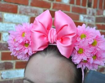 Pink Daisy Minnie Ears