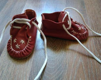 Soviet Vintage Baby Booties Soviet Shoes,Soviet children, baby leather shoes, vintage baby shoes, baby shoes, shoes for kids,