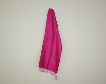 Vibrant Pink Silk Scarf