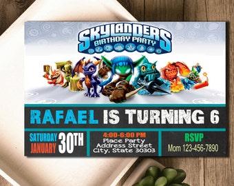 Skylanders Invitation / Skylanders Birthday / Skylanders Invite / Skylanders Party / Skylanders Birthday Invitation / Skylander Party Invite