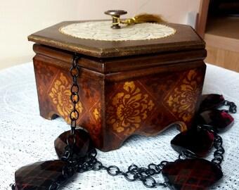 Wooden box, Decoupage, Jewelry box, Treasure box