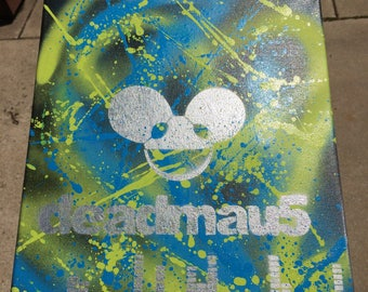 Deadmau5 12 x 16 Canvas, Wall Hanging, Made to Order, Any Colors, Psychedelic Trippy Abstract EDM Drum N' Bass