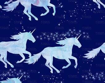 Unicorns Fabric by littlearrowdesigncompany