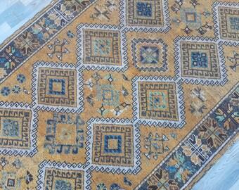5.5x11 More unique geometric design Vintage Oushak Rug,interior designer rug,Pastel Color rug,Turkish Carpet,Salon Rug