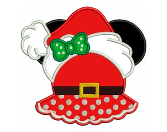 MINNIE CHRISTMAS 5 Machine Applique Embroidery - Instant Digital Download