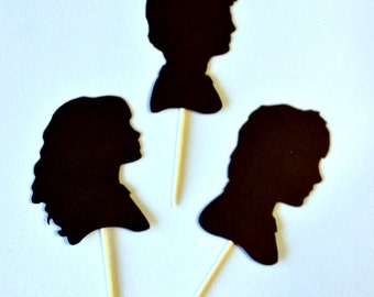 Harry Potter Inspired Cupcake Toppers, Harry Potter Party, Wizard Party, Wizard Cupcake Picks, Harry Potter Cupcake Picks