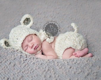 Baby Lamb Hat, Sheep Hat, Easter, Made to Order