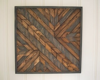 Highways & Byways- Wood Art, Rustic, Farmhouse, Wall Art, Abstract