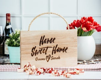 Solid Oak 'home sweet home' sign