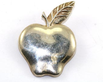 Vintage EV Apple Shape Pin/Brooch 925 Sterling BB 705-E