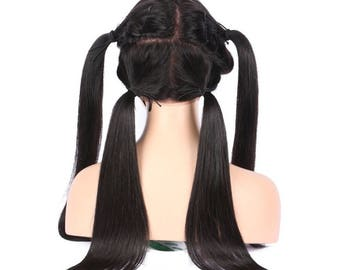 Density Full Lace Human Hair Wigs With Baby Hair Silky Straight  No Tangle No Shedding