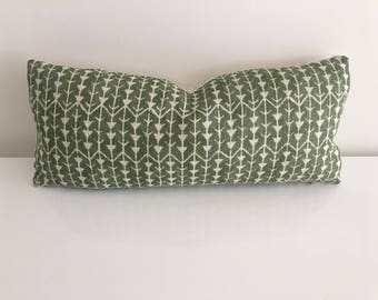 FLASH SALE! 30% off - Ready To Ship - Carolina Irving Amazon Leaf Bolster - 10x22 Pillow Cover