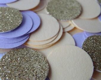 Wedding Confetti, Gender Reveal Confetti, Purple Wedding Confetti, Yellow Baby Shower Decor, Purple Birthday decorations,Gold Glitter
