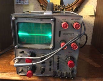 1960's Telequipment Jay control Type D54 oscilloscope, Great Man Cave Decor, Vintage TV Repairman Tool, Great for Prop Decor
