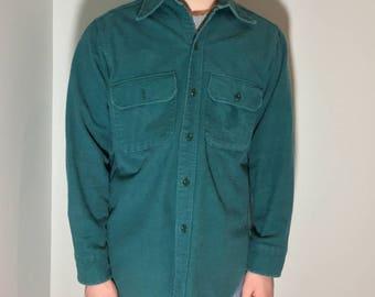 Viridian Men Shirt - Vintage clothing