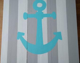 Anchor Wall Decor- Wood - Handmade