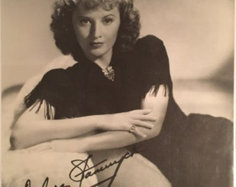 BARBARA STANWYCK Hand-Signed Autographed Photograph with COA