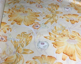 Vintage - 1978 Alan J. Nanness Yellow Floral on heavy weight chintz