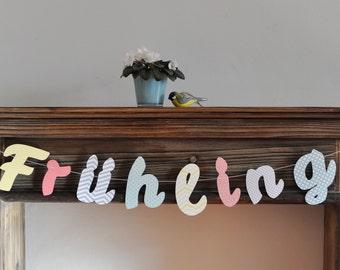 Garland pastel lettering spring
