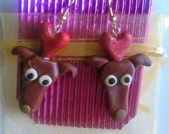 THREE GREYHOUND ITEMS Bargain!! Earrings and Necklace