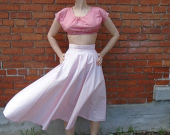 Elegant Vintage 1950s light pink circle skirt