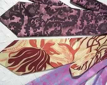 3 x tie, tie, pop art design Carnival Carnival costume