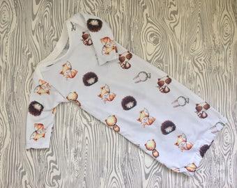 Newborn gown/baby boy gown