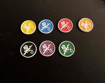 Malifaux Outcast Scheme Markers (x6) 30mm