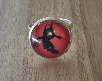 Kingdom hearts ring//Kingdom Hearts Jewelry//Shadow Heartless ring//Geek gifts//gifts for her//gifts under 20