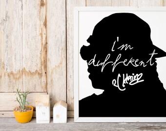 """2 Chainz """"Im Different"""" Art Print"""