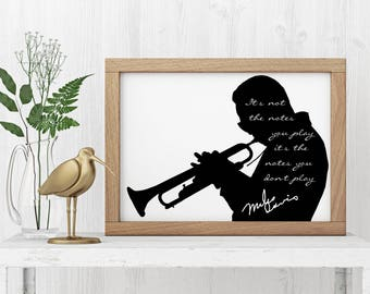 "Miles Davis ""It's not the notes"" Art Print"