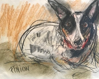 This is Pinion. You would be ordering a custom sketch of your dog.