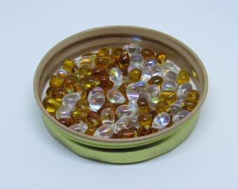 Glass Tear Drop Beads Lot of 130