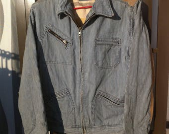 Sale 25% Vintage INDIANA MOTORCYCLE JACKET / Indiana Motorcycle Suit cotton Leather Size L