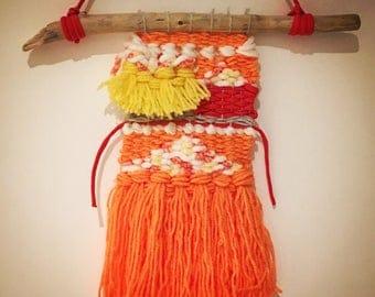 Weaving wall hanging, weaving