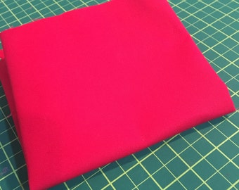 Waxed Cotton Canvas Fabric - Red (Water Repellent) 58 inches by the yard