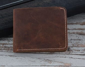 Handmade Wallet, Leather wallet, Gifts for Boyfriend, Personalized Leather Wallet, Mens Leather Wallet, Card Holder, Brown Leather Wallet