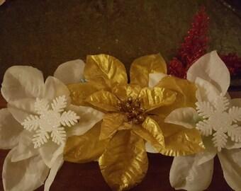 Handmade flower clips