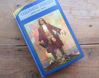 Gulliver's Travelers Jonathan Swift Blue Ribbon Book 1930s