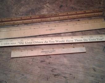 Set of vintage rulers