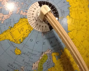 Vintage Tin World Globe, Educational Globe,Collectible