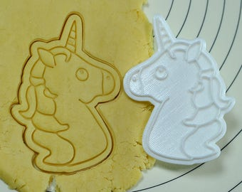 Head of Unicorn Cookie Cutter and Stamp