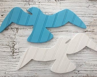 Colorful Wooden Seagulls