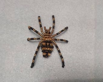 Beaded spider, 3D-beaded spider, spider figure