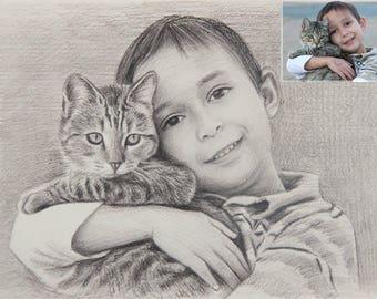 Custom Portrait Kids, Custom portrait kid, Kids Portrait, kids wall art, Wall Art Gift for Kids, Customized portrait, illustration