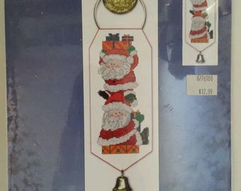 Christmas Stack of Santas 51390 Counted Cross Stitch Kit Candamar Designs NEW