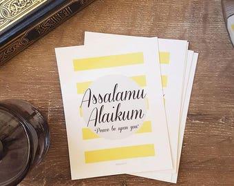 Greeting Card - Assalamu Aliakum - Blank Opposite Side