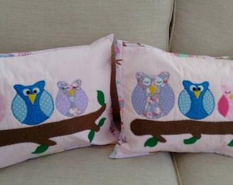 Owl Family Cushion