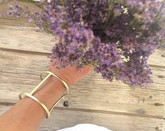 BIG GOLD Bracelet,  gold Chain Bracelet, gold Bracelet, Chain Bracelet, Simple gold Bracelet, Cuff Bracelet, Bangle Bracelet